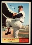 1961 Topps #16  Billy Muffett  Front Thumbnail