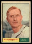 1961 Topps #505   Red Schoendienst Front Thumbnail