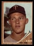 1962 Topps #21   Jim Kaat Front Thumbnail