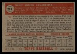 1952 Topps #295  Phil Cavarretta  Back Thumbnail