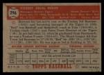 1952 Topps #296   Red Rolfe Back Thumbnail
