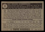 1952 Topps #43 BLK  Ray Scarborough Back Thumbnail