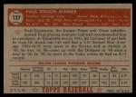 1952 Topps #127   Paul Minner Back Thumbnail