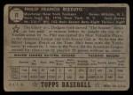 1952 Topps #11 BLK  Phil Rizzuto Back Thumbnail