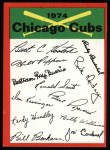 1974 Topps Red Team Checklists #5  Cubs Team Checklist  Front Thumbnail