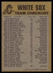 1974 Topps Red Team Checklists #6   White Sox Team Checklist Back Thumbnail