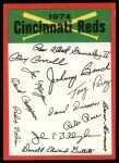 1974 Topps Red Team Checklists #7   Reds Team Checklist Front Thumbnail