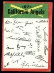 1974 Topps Red Team Checklists #4  Angels Team Checklist  Front Thumbnail