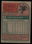 1975 Topps #28  Tom Murphy  Back Thumbnail