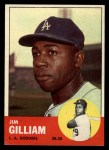 1963 Topps #80   Jim Gilliam Front Thumbnail