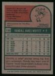 1975 Topps #132   Randy Moffitt Back Thumbnail