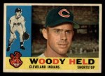 1960 Topps #178   Woodie Held Front Thumbnail