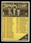 1961 Topps #98 YEL 2  Checklist 2 Front Thumbnail