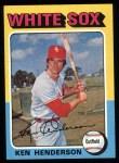 1975 Topps #59   Ken Henderson Front Thumbnail