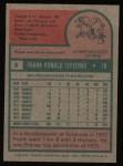 1975 Topps #9   Frank Tepedino Back Thumbnail