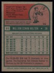 1975 Topps #11   Bill Melton Back Thumbnail