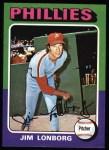 1975 Topps #94  Jim Lonborg  Front Thumbnail