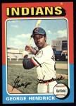 1975 Topps #109   George Hendrick Front Thumbnail