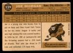 1960 Topps #229  Joe Morgan  Back Thumbnail