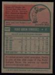1975 Topps #157   Pedro Borbon Back Thumbnail