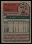 1975 Topps #160   Graig Nettles Back Thumbnail