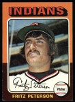 1975 Topps #62  Fritz Peterson  Front Thumbnail