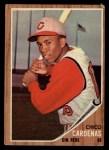 1962 Topps #381   Leo 'Chico' Cardenas Front Thumbnail