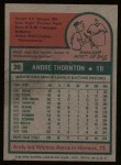 1975 Topps #39  Andy Thornton  Back Thumbnail