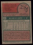 1975 Topps #121   Bill North Back Thumbnail