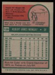 1975 Topps #129  Rick Monday  Back Thumbnail