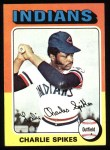 1975 Topps #135   Charlie Spikes Front Thumbnail