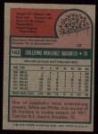 1975 Topps #162   Willie Montanez Back Thumbnail