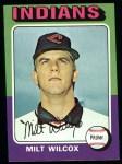 1975 Topps #14   Milt Wilcox Front Thumbnail