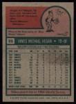 1975 Topps #99  Mike Hegan  Back Thumbnail
