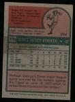 1975 Topps #109   George Hendrick Back Thumbnail