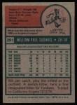 1975 Topps #291  Bill Sudakis  Back Thumbnail