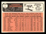 1966 Topps #51  Gordon Richardson  Back Thumbnail