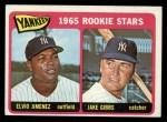 1965 Topps #226  Yankees Rookies  -  Jake Gibbs / Elvio Jimenez Front Thumbnail