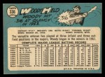1965 Topps #336  Woodie Held  Back Thumbnail