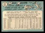1965 Topps #522  Hank Aguirre  Back Thumbnail
