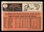1966 Topps #393   George Brunet Back Thumbnail
