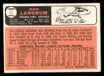 1966 Topps #43 ^NO^ Don Landrum   Back Thumbnail