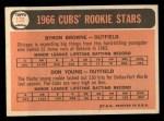 1966 Topps #139  Cubs Rookies  -  Bryon Brown / Don Young Back Thumbnail