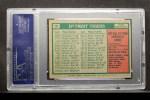 1975 Topps Mini #18  Tigers Team Checklist  -  Ralph Houk Back Thumbnail