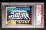 1975 Topps Mini #18  Tigers Team Checklist  -  Ralph Houk Front Thumbnail