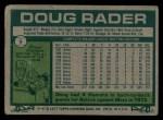 1977 Topps #9  Doug Rader  Back Thumbnail