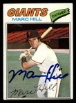 1977 Topps #57   Marc Hill Front Thumbnail