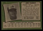 1971 Topps #474   Jim Fairey Back Thumbnail