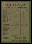 1971 Topps #200   -  Bobby Tolan / Manny Sanguillen 1970 NL Playoffs - Game 2 - Tolan Scores For Third Time Back Thumbnail