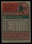 1975 Topps #179   Tom Bradley Back Thumbnail